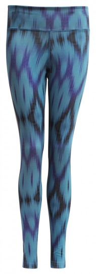 "Yoga-Leggings ""Devi"" - Ikat aqua"