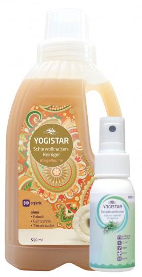 Gratis Bio Wollwaschmittel (Bio Schurwollmatten-Reiniger - Ringelblume - 510 ml) + Bio Yogawear-Geruchsentferner (natural refresh - rosemary - 50 ml)