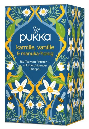 Bio Kamille, Vanille & Manuka Honig Teemischung, 32 g