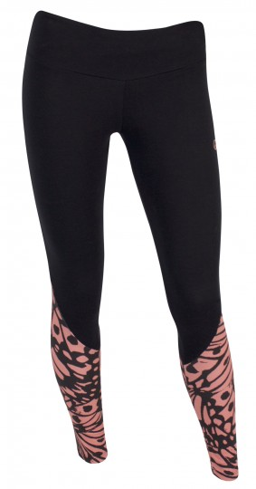 """Leggings Colourblocked """"Butterfly"""" - black/coral"""