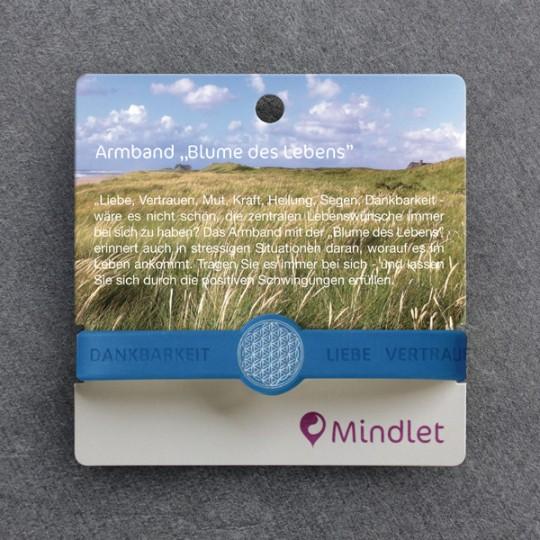 """Mindlet-Armband """"Blume des Lebens"""", indigo blau"""