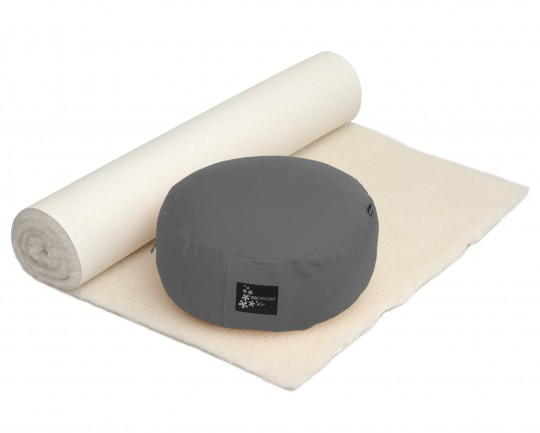 Yoga-Set Comfort Edition - Meditation natur 75 x 180 cm