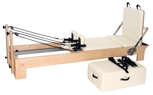 "Pilates Reformer Ahorn ""Short Leg"" (inkl. Sitting Box und Jump Board) - creme"