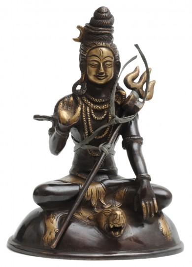 Shiva-Statue aus Messing, 18cm