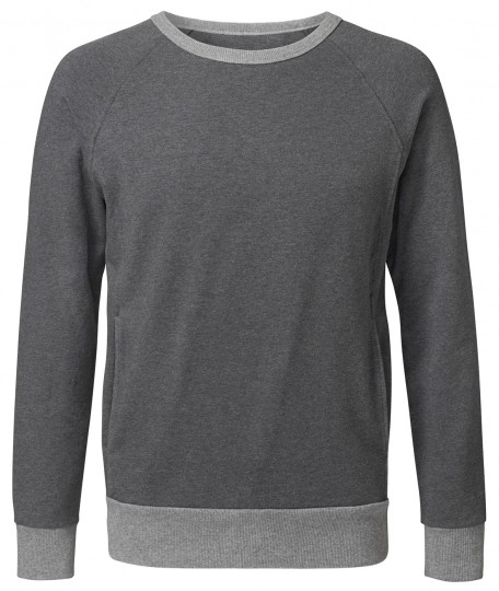 Sweatshirt, men - anthrazit melange