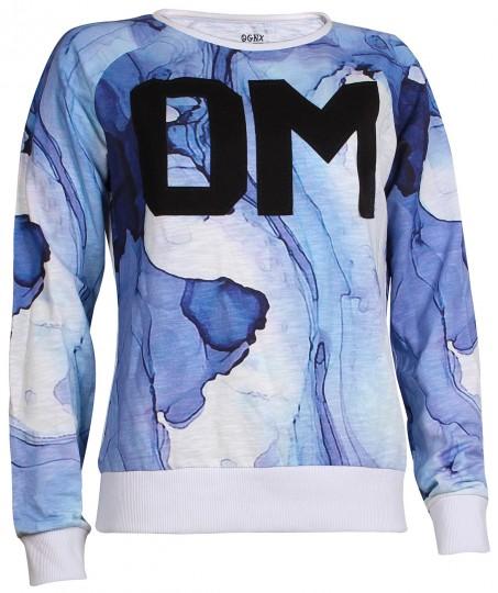 "Yoga Sweatshirt ""Ocean"" - blue"