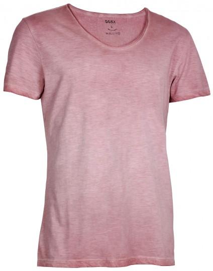 """Yoga T-Shirt """"Deep O"""" Slim Fit - red"""