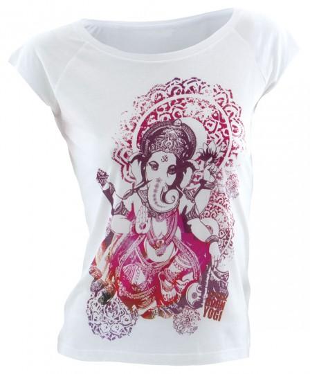 """T-Shirt """"Groovy Ganesha"""", weiß"""