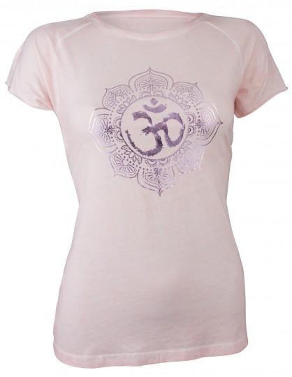 "Yoga-T-Shirt ""pigment dyed OM"" - powder"
