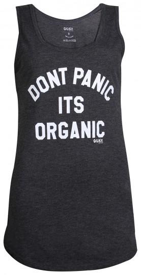 "Yoga Tank-Top ""Don't panic it's organic"" - black"