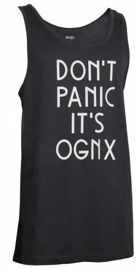 "Yoga Tank-Top unisex ""Don't panic it's OGNX"" - black"