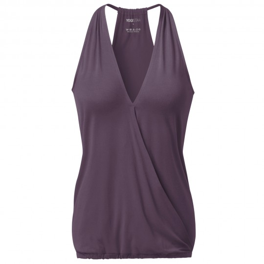 "Yoga-Racerback V-Neck ""ala"" - elderberry"