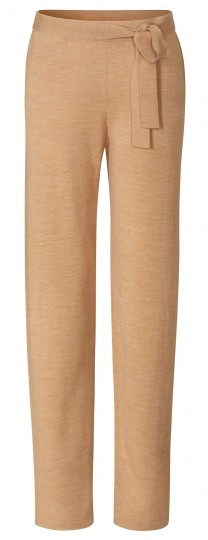 Yoga-Wide-Pants aus Wolle (Merinowolle) - camel/melange