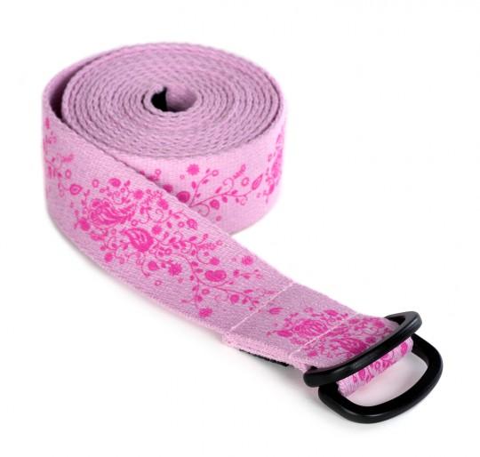 Yogagurt yogibelt® medium - indian flower - PD 260cm - rose