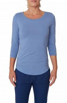 3/4 Yoga-Shirt - surf blue