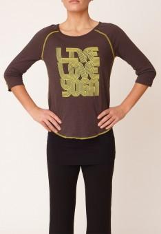 "Yoga-Shirt ""Boogie T"" - storm grey/lemonade"