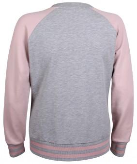 Yoga College Jacke - grau melange/winter rose