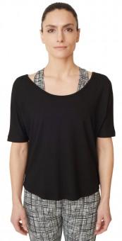 """Yoga-T-Shirt """"criss cross"""" - jet black"""