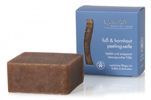 Apeiron Fuß & Hornhaut Peeling Seife, 100 g