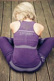 Lotus top-seamless, purple