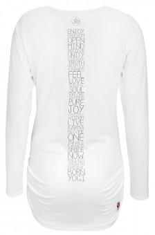 "Langarm-Shirt deluxe ""Wonderful Words"", weiß"