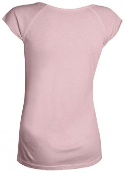 """Yoga T-Shirt """"Pigment dyed OM"""" - winter rose"""
