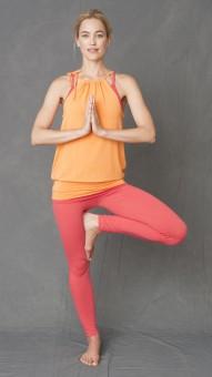 """Yoga-Neckholder-Top """"Bamboo"""" - satsuma"""