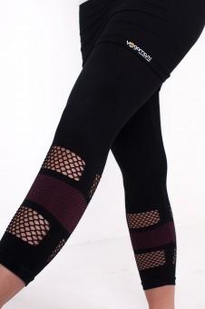 Lotus Yoga Skirt Capri-Black