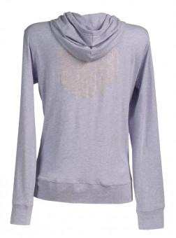 "Yoga Hoodie Jacket ""Flower of LIfe"" - lilac"