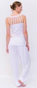 """Yoga-Top """"Chaturanga"""", white"""