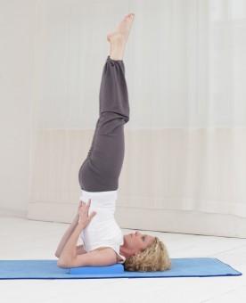Yogablock Schulterstand