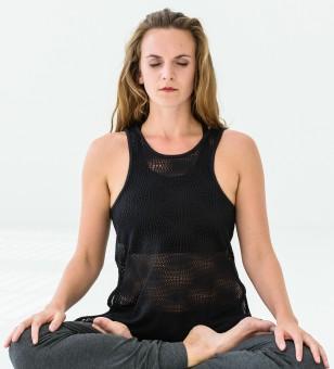 """Yoga-Mesh-Top """"Roma"""" - black"""