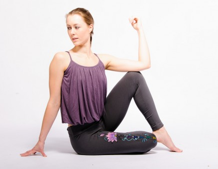 "Yoga-Top ""Comfort Flow"" - lavender"