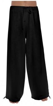 Schazad-Leinenhose - schwarz