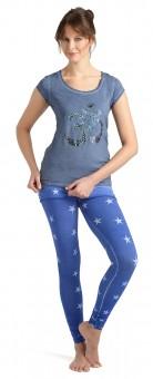 "Skirt-Pant ""Stars"", flashblue"