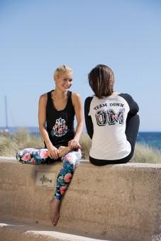 "Yoga Longsleeve ""Team"" - schwarz-weiss"