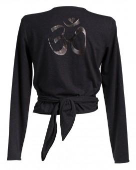 """Yoga Wrap Jacket """"OM"""" - melange grey"""