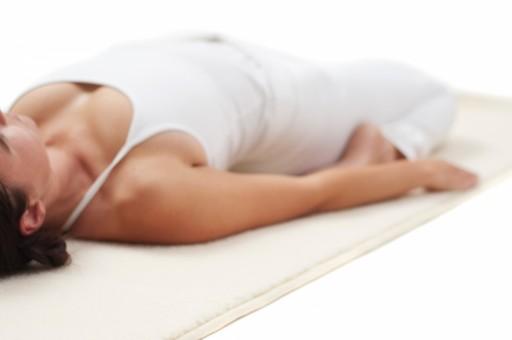 Yogamatte Natur (Schurwolle) Umsäumt