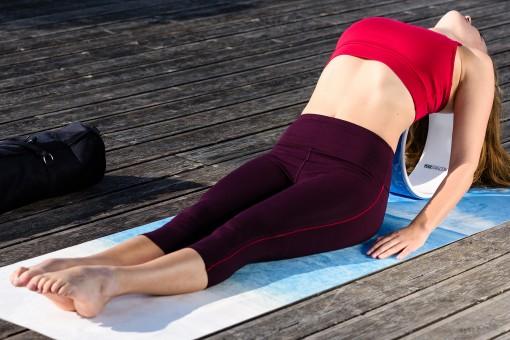 "Yoga-Capri ""Karma"" - aubergine"