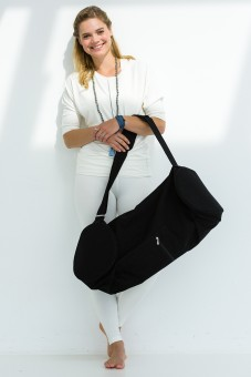 Yogatasche basic - zip - extra big - cotton - 80 cm