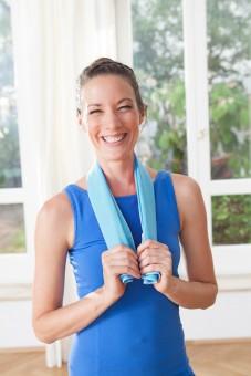 Yoga Cloth yogi mini towel, blue
