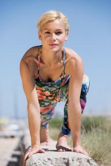 "Yoga Basic-Top ""Flower"" - multicolour"