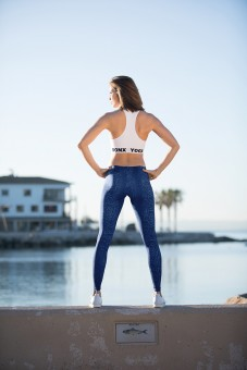 "Yoga Sport Leggings ""Snake"" - navy"