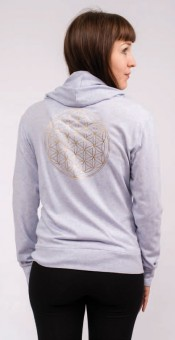 "Yoga Hoodie Jacket ""Flower of LIfe"" - lilac"