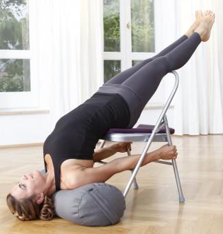 Yoga-Stuhl - silbergrau