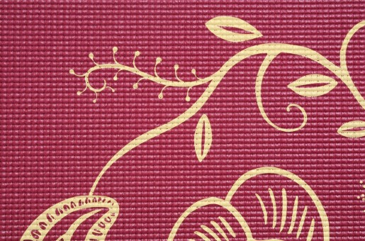 Yoga mat 'Indian flower'