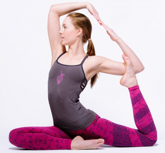 "Yoga-Top ""Ananda"", grey"