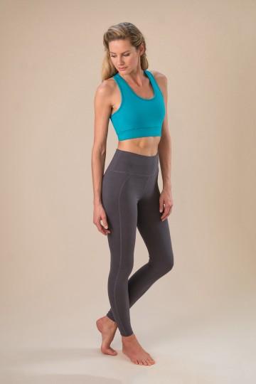 """Yoga-Leggings """"move it"""" - pebble"""