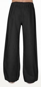 Schazad-Leinenhose mit Gummiband - schwarz