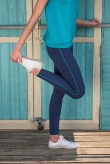 """Yoga-Leggings """"Flow with it"""" - ocean"""